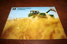 John Deere Grain and Maize Combine Brochure 3300 4400 6600 6601 7700 1969!