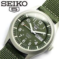 SEIKO 5 SPORTS AUTOMATIC SNZG09J1 GREEN, NYLON BAND JAPAN MADE SNZG09 MEN WATCH