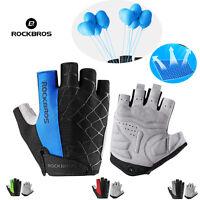 ROCKBROS Cycling Gel Half Finger Gloves Breathable MTB Bike Gloves Genuine