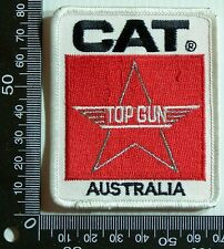 VINTAGE CAT TOP GUN AUSTRALIA EMBROIDERED SOUVENIR PATCH WOVEN CLOTH SEW BADGE
