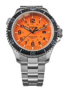 Traser H3 P67 SuperSub Orange Herrenuhr Special Set 109379 Analog Edelstahl Sil