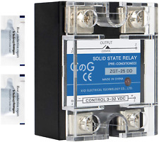 Solid State Relay Ssr 25dd Dc To Dc Input 3 32vdc To Output 5 240vdc 25a Single