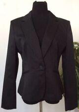 837698fe72 NWT White House Black Market Women s Black Stripe Blazer Jacket Size 14 Ret   158