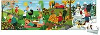 Janod Hat Boxed Panoramic Children's Jigsaw Puzzle 36 pieces, 4 Seasons