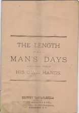 The Length of A Man's Days is,... In His Own Hands, Browns Sarsaparilla, 1880's