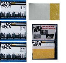 4X URBAN WRAPS 1 1/2 Size cigarette rolling papers FOUR PACKS/33 leaves per pack