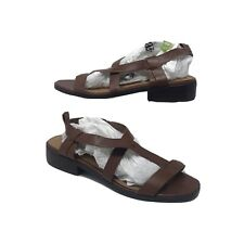 NEXT Brown Tan Open Toe Flat Sandals UK 8