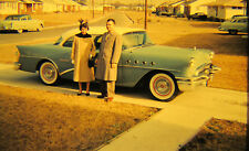 Vtg 35mm 1950s American Life Woman with 1955 Buick Century 5