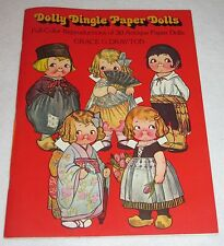 Dolly Dingle Paper Dolls~ Reproductions of 30 Antique Paper Dolls~ 1978~ New