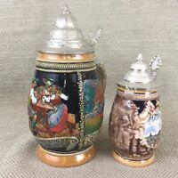 Vintage Tedesco Birra Steins Egon Bay Gres Ceramica Boccale Tazza Pentole