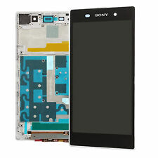 White LCD Display Touch Screen Digitizer Assembly + frame for Sony Xperia Z1