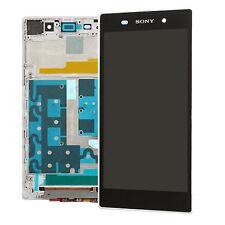 Blanco Pantalla Lcd Digitalizador de pantalla táctil Asamblea + Marco Para Sony Xperia Z1
