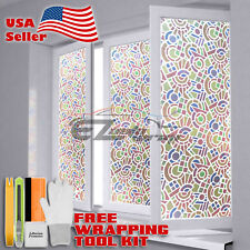 *Premium Frosted Film Glass Home Bathroom Window Security Privacy Sticker #5022