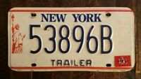 1993 NEW YORK Motorcycle Trailer License Plate 53896B  Fast Free S/H