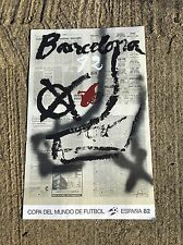 Affiche Coupe Du Monde Football Barcelone 1982 Antoni Tapies -lal16