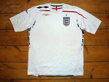 Tamaño (XL) Inglaterra Camiseta de Fútbol Maglia Porte Maillot 2008