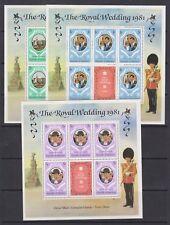 1981 Royal Wedding Charles & Diana MNH Stamp Sheetlets Maldives Perf