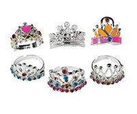 12 Princess Crown Rings Girls Birthday PARTY Favors