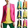 Women Casual Lapel Blazer Suit Jacket Long Sleeve Slim Cardigan Coat Outwear NA