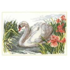 Alisa Cross Stitch Kit-White Swan