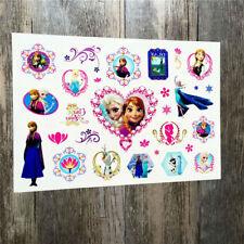 Tattoo für Kinder Kindertattoos Set Mitgebsel Kindergeburtsag Anna und Elsa 2