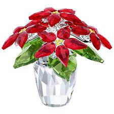 POINSETTIA LARGE - HOLIDAY PLANT 2017 CHRISTMAS XMAS SWAROVSKI CRYSTAL #5291024