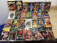 lot of 28 WWF WWE WCW VHS Videos Coliseum Hogan, stone cold, The Rock
