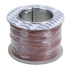Model Railway/Railroad Layout/Point Motor Wire - 100m Roll 1/0.6mm 3A Brown -T48