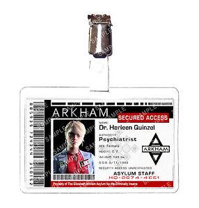 Batman Arkham Asylum Dr Harleen Quinzel Staff Cosplay Costume ComicCon Halloween