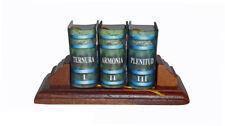 "Ternura Armonia Plenitud miniature books set spanish w stand hardcover 1.4"" high"