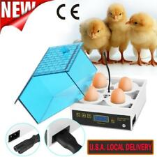 4 Eggs Digital Egg Incubator Hatcher Temperature Control Turning Chicken Blue Us