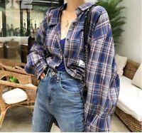 Oversized Vintage plaid check shirts