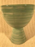 Vintage 1940s-1950s McCoy Pottery Chalice Cup Sea Green Planter 6.5 in EUC!
