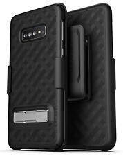Encased Samsung Galaxy S10 Belt Clip Case Holster w/ Kickstand (Slimline) Black