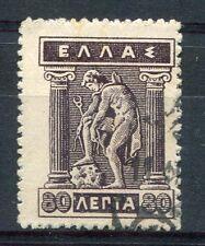 GRECE, 1911-21, timbre 198D, type MERCURE, oblitéré