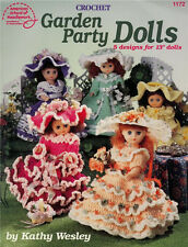 Crochet Doll Gowns GARDEN PARTY DOLLS Paperback Booklet in English ~ NEW