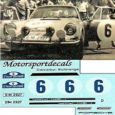 Porsche 911 12 Paaay Acopolis 1970 #6 1:24 Autocollant Décalcomanie