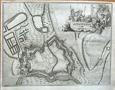 FLANDERS,BELGIUM, OUDENARDE,  Francois Foppen Antique Fortified Town  Map  1720