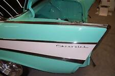 1957 57 Chevy Belair Top Fin Moulding Complete With Inserts Hardtop Sedan Conv
