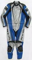 Top REVIT GT Corse Gr. 50 Zweiteiler Lederkombi schwarz blau silber Leather Suit