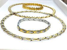 Womens Gold,2 Tone Hugs & Kisses Necklace,Bracelet set XOXO Stamato 2 Sets