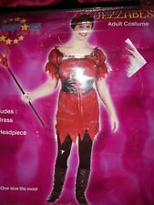 Adult Ladies Devil outfit Halloween Costume One Size ⭐️BNWT⭐️  fancy dress