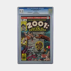 2001: A Space Odyssey #1 CGC 9.2 Slabbed Comic. 1976 Cent Copy