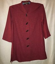 WOMEN'S 1X, RED, KIMONO STYLE TOP BY CAROLINE ROSE, BRAND NEW!