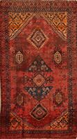 Antique Pre-1900 Tribal Lori Geometric Area Rug Hand-Knotted Oriental Carpet 5x8