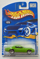 2001 Hotwheels First Editions 1971 Plymouth GTX Hemi Green! Very Rare! MOC!