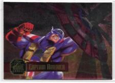 1995 Flair Marvel Annual Powerblast Foil (14) CAPTAIN AMERICA