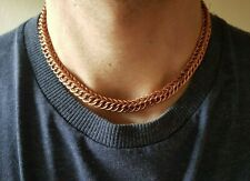 "16"" Men's Chunky Solid Heavy Copper Persian Weave 4 in 1 Necklace Chainmail Gift"