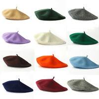 Autumn Winter Women Ladies Elegant Beret Pure Color French Cute Painter Hat Gift