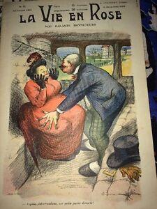 PROSTITUTION -ÉROTISME. REVUE CARICATURES 1903.Une Partie D'écarté.